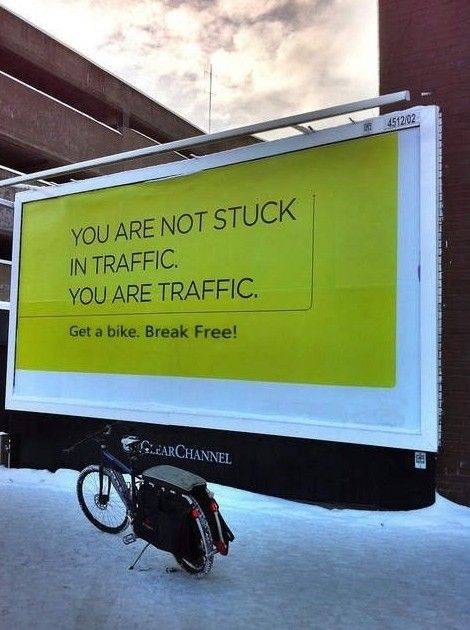 Traffic: Bike Month, Bike Ism, Perspective, Billboard Bike, Place, Happy Bike