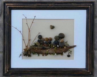 Pebble Art / Rock Art Couple wedding gift by CrawfordBunch on Etsy