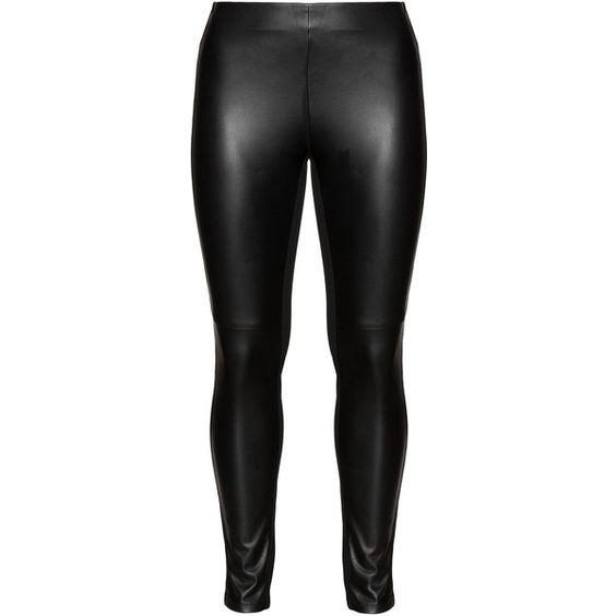 Plus size long black pants