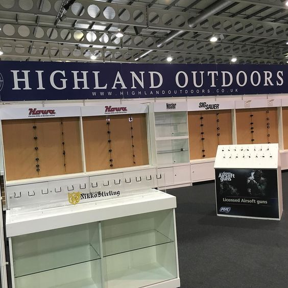 All we need now is the guns and scopes #britishshootingshow #shootingshow #buytickets #rifles #scopes #highlandoutdoors