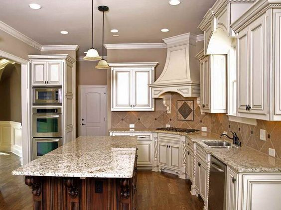 How to make Glazed White Kitchen Cabinets with fancy design