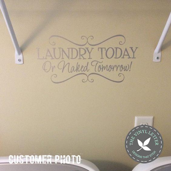 THE VINYL LETTER – designs that stick, Laundry Today Vinyl Decal, #tvlcustomerphotos