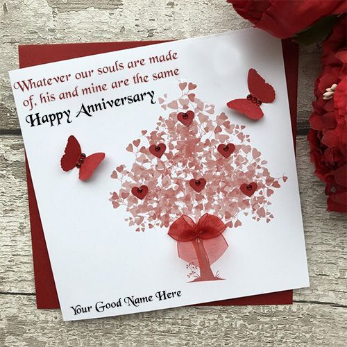 Create A Marriage Anniversary Card With Name Edit Online Write Name On We Marriage Anniversary Cards Wedding Anniversary Cards Happy Wedding Anniversary Cards