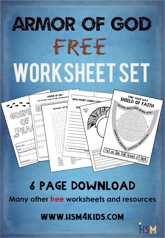 Armor Of God Six Worksheet Set Free Lots Of Free Bible Activities Worksheets And Other Fre Bible Lessons For Kids Bible Activities For Kids Bible For Kids