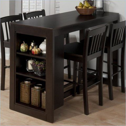 Counter Height Kitchen Table With, Bar Height Table With Storage