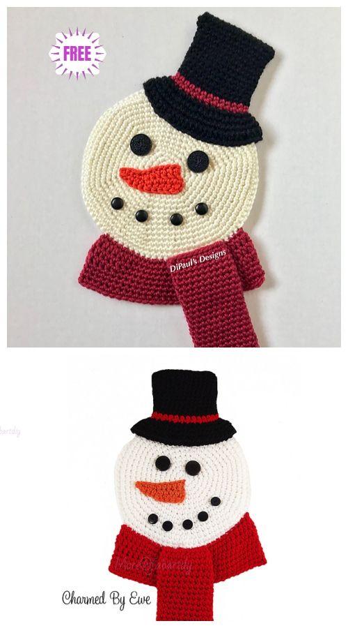 Crochet Flat Snowman Free Crochet Patterns Crochet Xmas Christmas Crochet Christmas Knitting Patterns