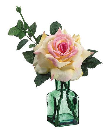 Pink yellow rose vase arrangement crafts vase and for Allstate floral and craft