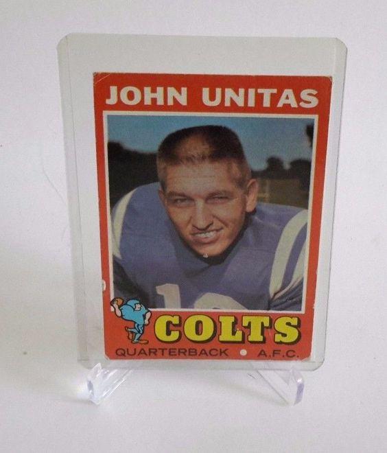 JOHNNY UNITAS 1971 Topps #1 Baltimore Colts #BaltimoreColts