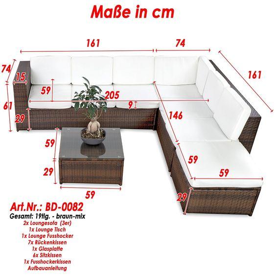 Fresh Amazon de XINRO tlg XXXL Polyrattan Gartenm bel Lounge Sofa g nstig Lounge M bel Lounge Set Polyrattan Rattan Garnitur Sitzgruppe In Outdoor u