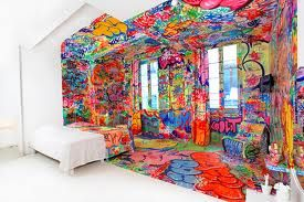 Au Vieux Panier hotel, Marseille - opens up rooms every year to artists to decorate half the room