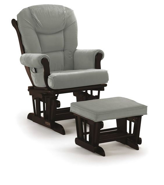 Amazon.com: Shermag Glider Rocker Combo, Espresso with Grey: Baby