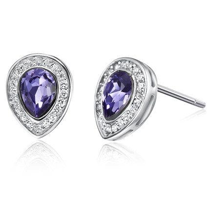 2014 New Fashion Stud Earring Designs Ocean Bule 925 Sterling Silver Ear Nail For Ladies http://www.aliexpress.com/store/1482336