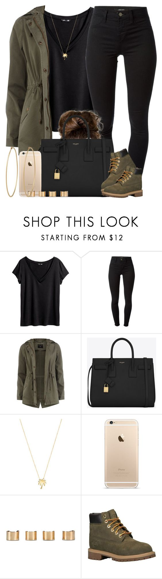 """""""Pull up in that all Black. """" by livelifefreelyy ❤ liked on Polyvore featuring H&M, J Brand, Dorothy Perkins, Yves Saint Laurent, Joolz by Martha Calvo, Maison Margiela, Timberland, Social Anarchy, women's clothing and women's fashion"""