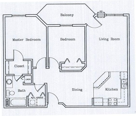 2 bedroom with washer and dryer Small house plans