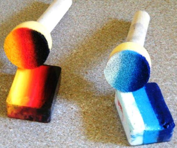 TAG 1Stroke & Dauber Sponge Applicators for face painting inspiration!