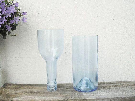 DIY-Anleitung: Glas sauber schneiden, Vase aus Glasflasche / DIY-tutorial: cutter glas proberly, crafting vase out of glas bottle via DaWanda.com