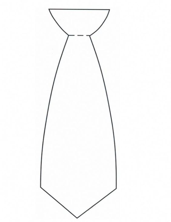 Tie Template S Day Craft Ideas