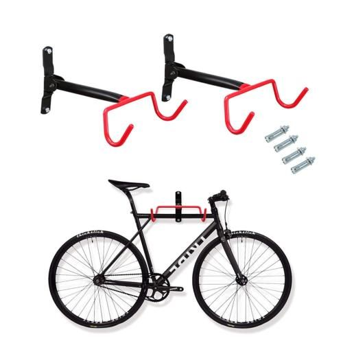 Voilamart 2pcs Bike Wall Mount Hanger Indoor Storage Rack Garage Bicycle Hook Bike Wall Mount Storage Rack Bicycle Hook