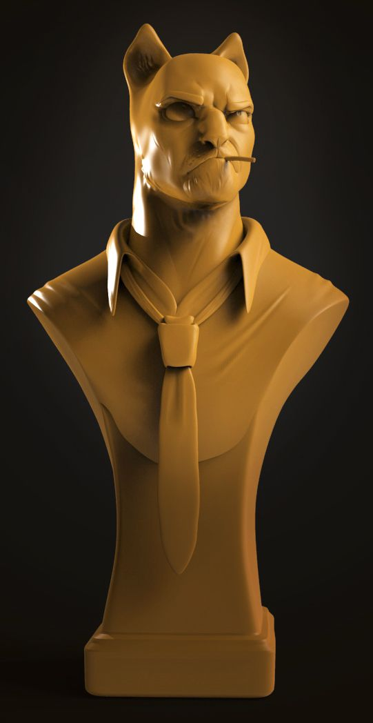Blacksad by Alice Vuillet | Fan Art | 3D | CGSociety