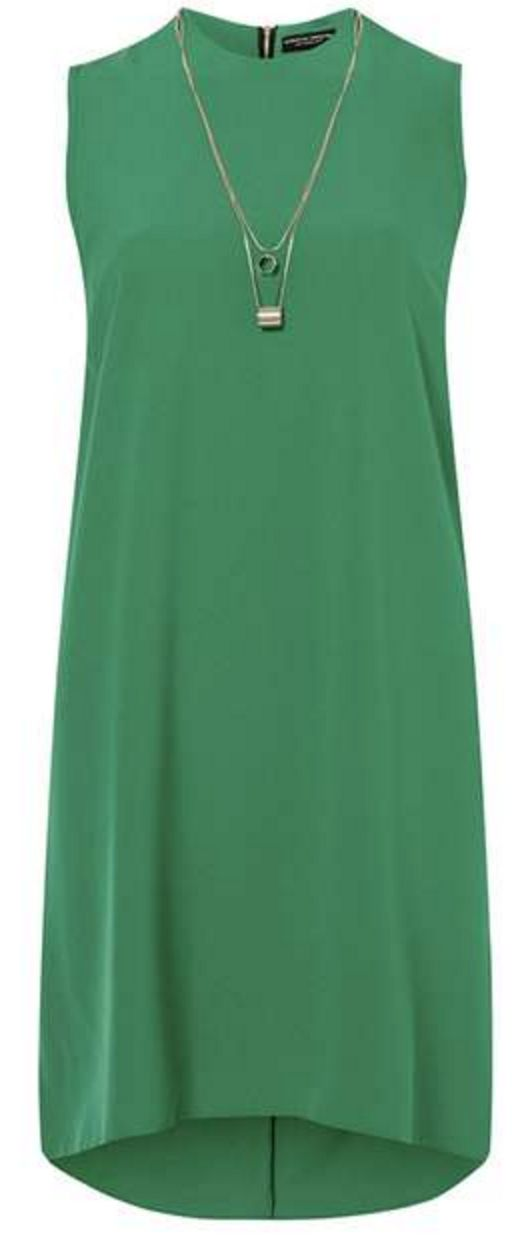 Green Necklace Sleeveless Dress