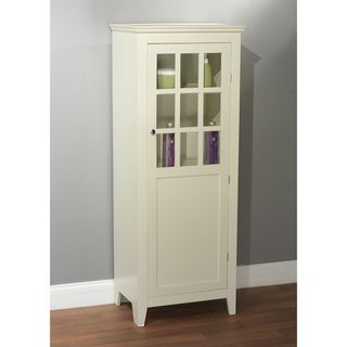 Simple Living Antique White Tall Bathroom Linen Cabinet By Simple Living Extra Storage Bottle