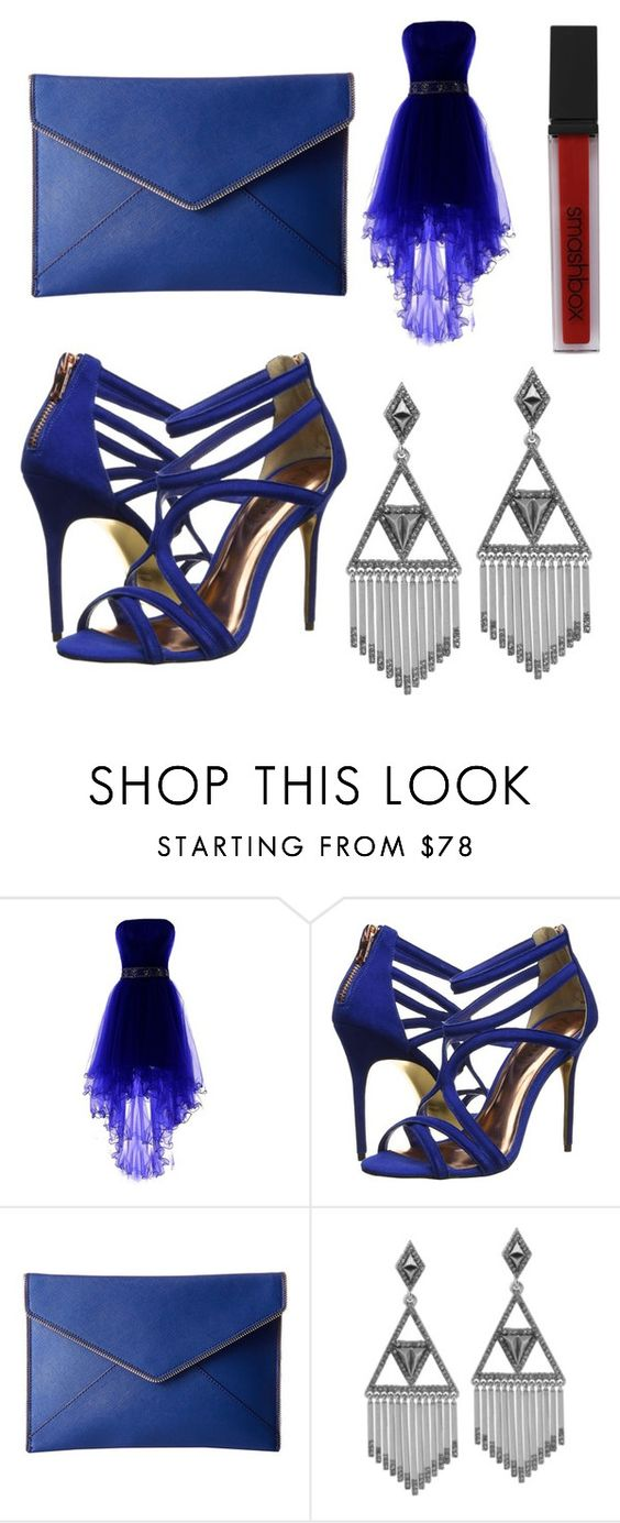 """Untitled #1"" by delianapetkova ❤ liked on Polyvore featuring Ted Baker, Rebecca Minkoff, House of Harlow 1960 and Smashbox"