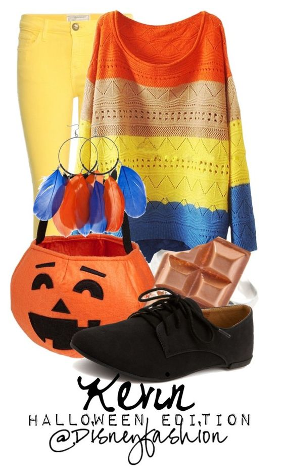 """""""Kevin Halloween"""" by eli2612 ❤ liked on Polyvore featuring Current/Elliott, Old Navy, Charlotte Russe and Friis & Company"""