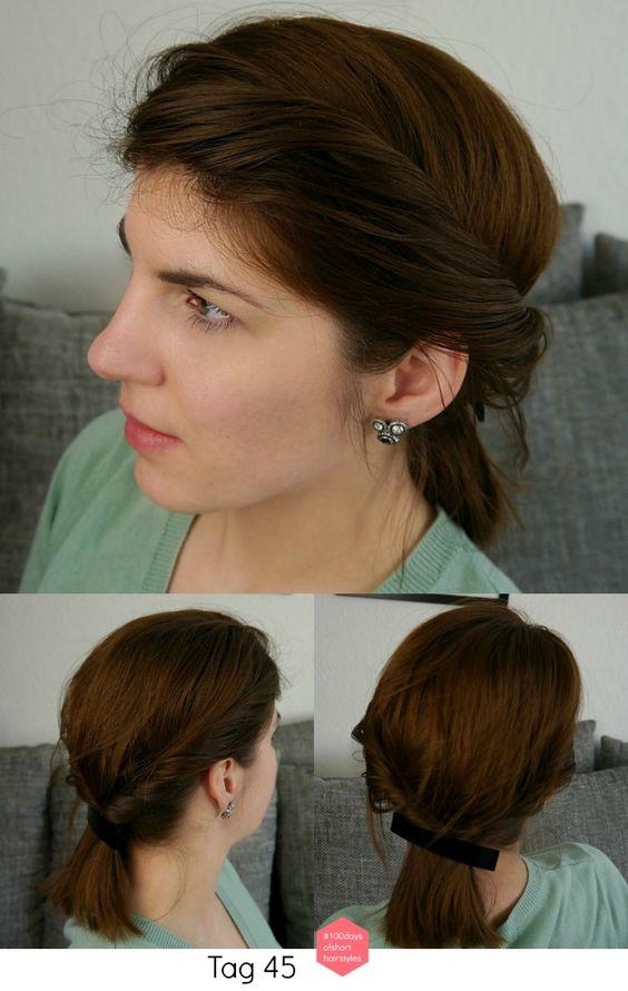 100 Tage 100 #frisuren mit schulterlangem #haar Tag 45: Griechische Göttin #frisur // #100days of #short #hairstyles Day 45: #goddess #hair // #bob #shorthair #zopf #hairstyle