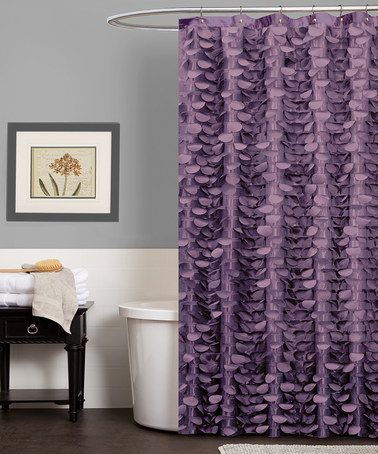 {Purple Georgia Shower Curtain by Triangle Home Fashions} Love it.