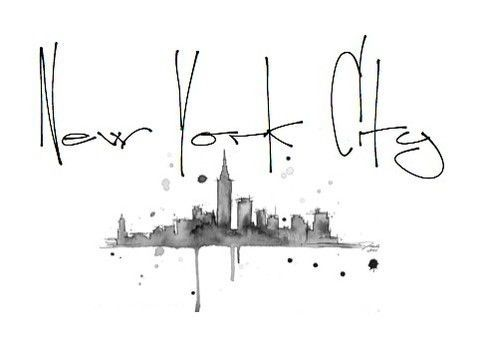 New York City skyline tattoo...making this into colour would be amazing