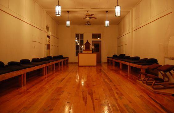 meditation hall at Bodhi Mandala Zen Center, Jemez Springs, New Mexico