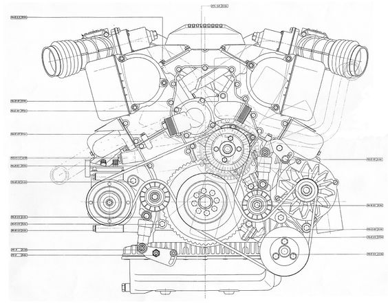 v12 engine blueprint bmp 4mb front view proyectos que debo intentar cars v12