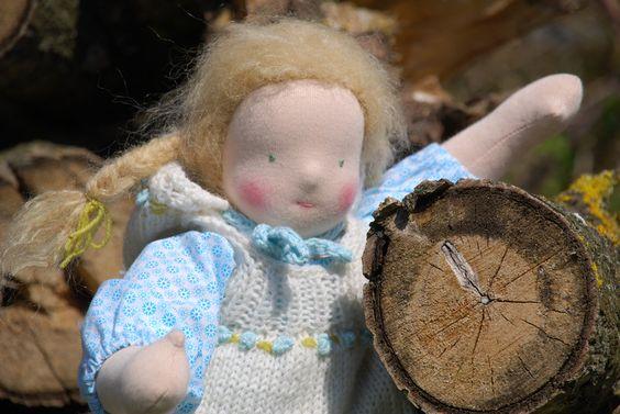 Waldorfpuppen - Puppenkind *BO* nach Art der Waldorfpuppe - ein Designerstück von goldigkind bei DaWanda