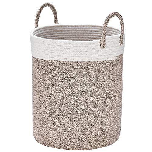 Storage Baskets Cotton Rope Woven Basket 13 X 15 Decorative