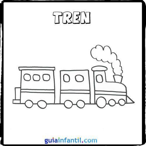 Dibujo De Un Tren Para Pintar Con Los Niños Dibujo Tren