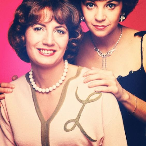 Day 5 of #30daysofmonograms: Laverne & Shirley show us how to rock monogrammed sweaters (etc) for every occasion!  #monogram