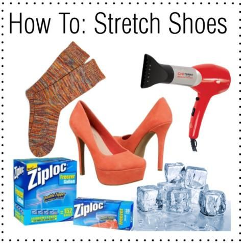 I have been waiting my whole life for this idea!!!! Shoe stretching...yessss!!!