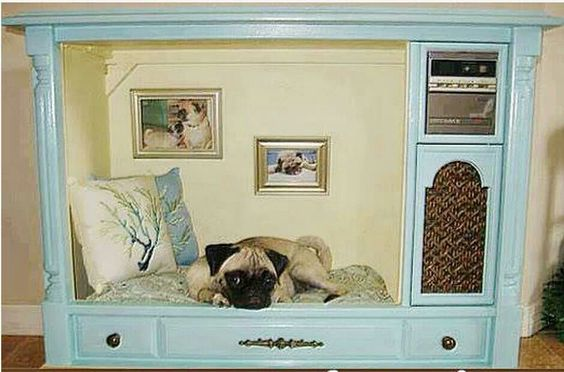 Old tv into dog bed. I need to make this for my Penny girl