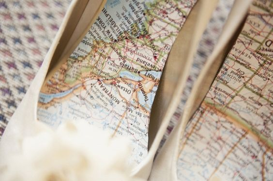 Or keep your hometown at your heels: | 27 Travel-Inspired Wedding Ideas You'll Want To Steal