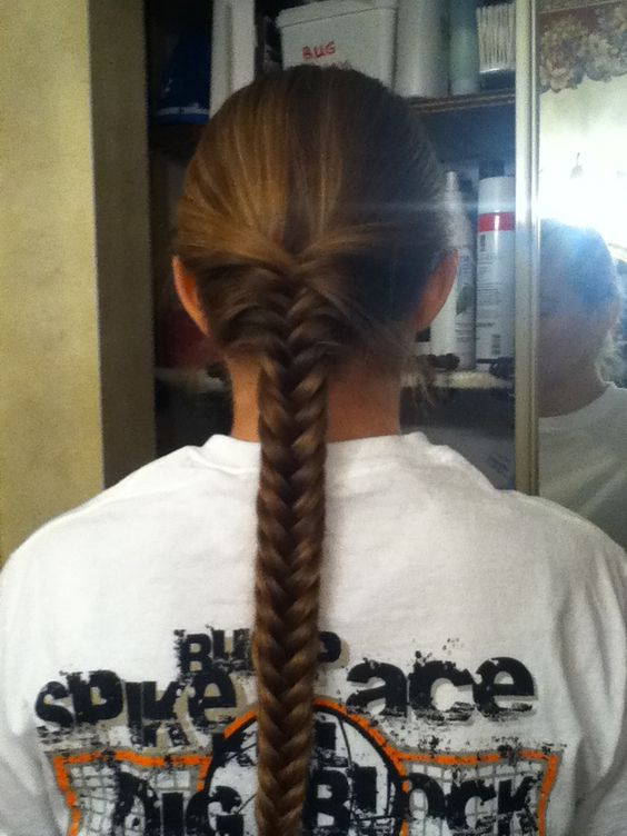 Almost perfect fishtail. Thanks to my mom. :D