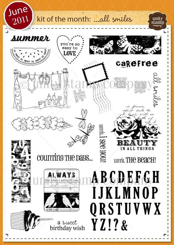 Unity Stamp Company June 2011 Kit of the Month
