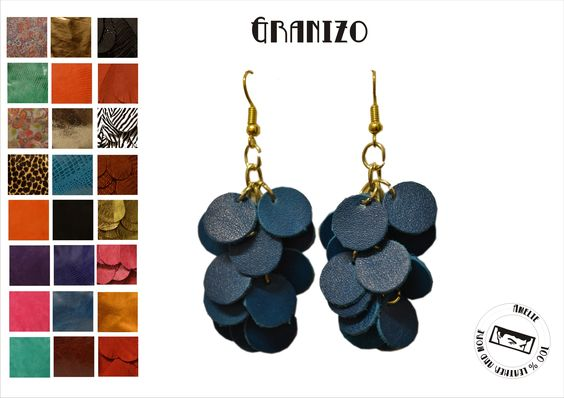 small leather earrings. Ideal for a day outfit, b amelie