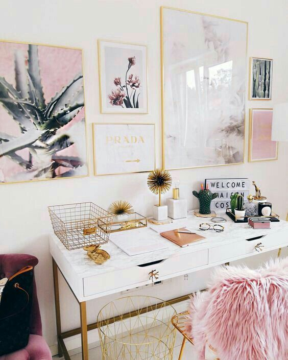 Homeoffice Home Office Decor Pink Office Home Office Design
