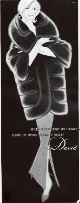 Illustraded ad. for David, Sept. 1960.