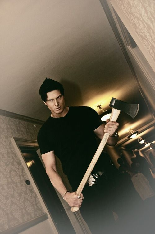 Some people would be scared of a guy coming at them with an axe and run away...if it was Zak bagans then I'd run TOWARDS him.