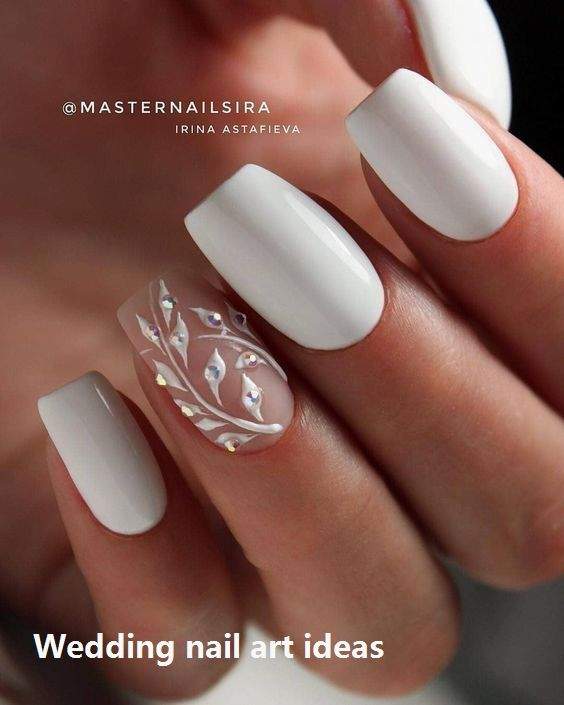 35 Simple Ideas For Wedding Nails Design Nailartideas Bridal Nails Designs Bride Nails Nail Art Wedding