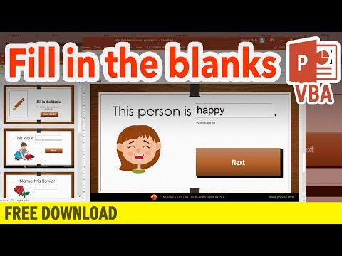 How To Create Fill In The Blanks In Powerpoint Interactive Game Ppt Vba Tutorial Youtube Interactive Game Interactive Powerpoint Powerpoint