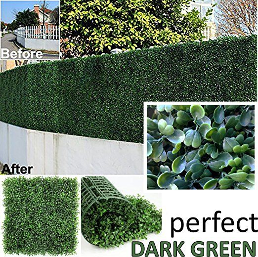 Genpar Artificial Boxwood Hedge Covers 33 Sq Feet 12 Panels 20 X 20 Uv Protection 15 Year Artificial Plants Outdoor Artificial Plants Faux Greenery Outdoor