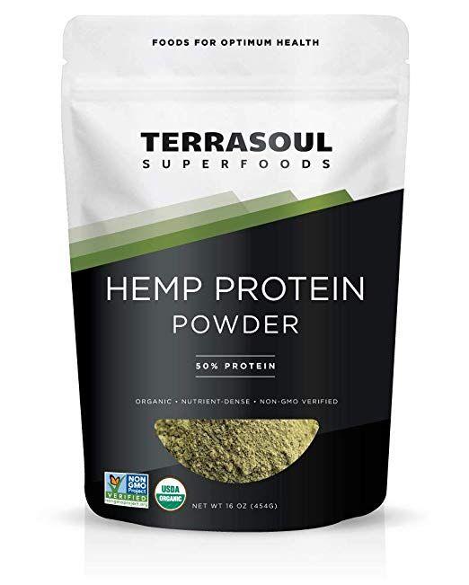 Terrasoul Superfoods Organic Hemp Protein Powder 50 Protein 1 Pound Acai Berry Powder Spirulina Powder Superfood Powder