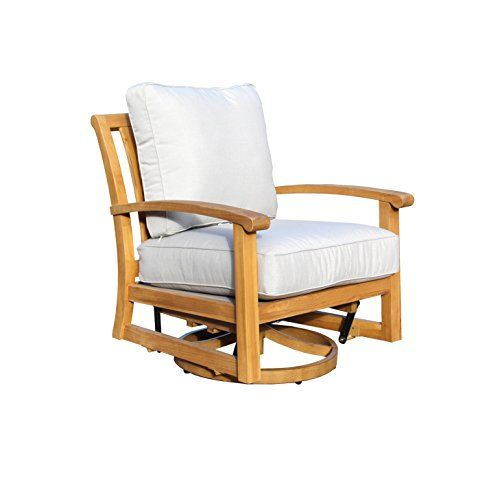 Courtyard Casual Natural Heritage Outdoor Teak Swivel Chair Lounge Chair Outdoor Teak Outdoor Outdoor Swivel Chair